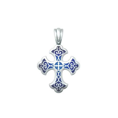 Нательный крест с эмалью «Господи, помилуй мя» 19.011Р