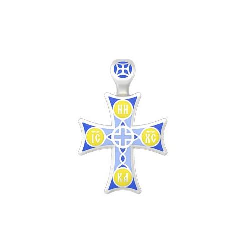 Нательный православный крест с эмалью 19.012Р