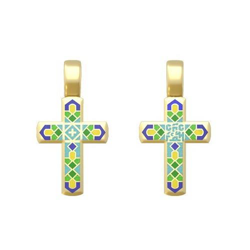 Нательный православный крест «Спаси Господи»19.014-1