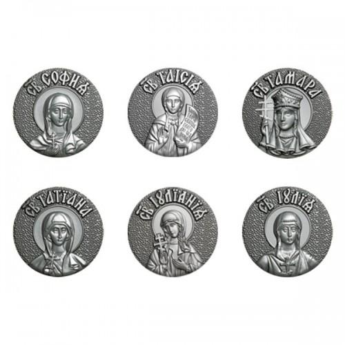 Женский именной крест мощевик с иконой вашей святой 05В