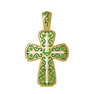 Нательный крест Виноградная лоза «Господи, силой креста твоего, спаси мя» 19.005