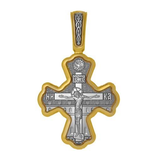 Нательный православный крест. Распятие. Святитель Николай Чудотворец 04.117