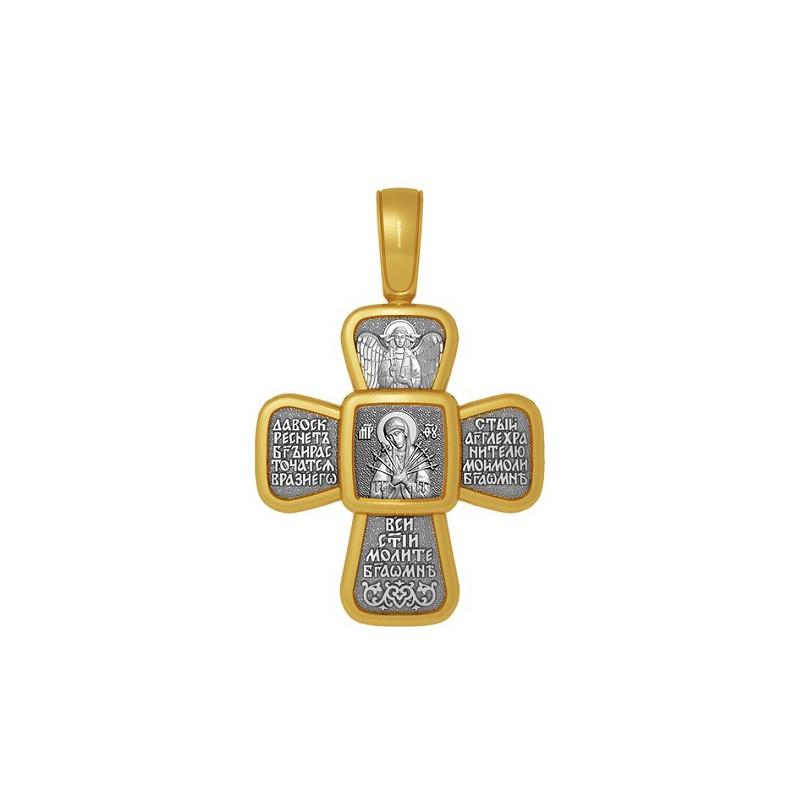 Нательный православный крест «Семистрельная икона Божией матери» 04.120