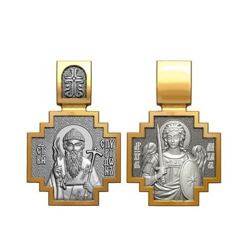 Образок Святитель Спиридон Тримифунтский, Архангел 06.112