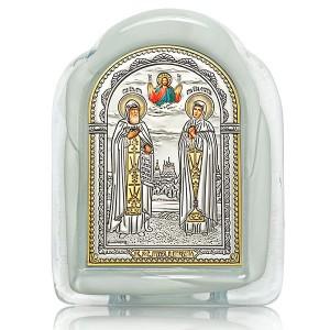 Икона «Святые блгвв. Петр и Феврония» И2-М(Б)-ПФ