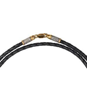 Кожаный шнурок с орнаментом «Греческий крест» 05.096
