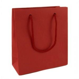 Пакет подарочный маленький красного цвета