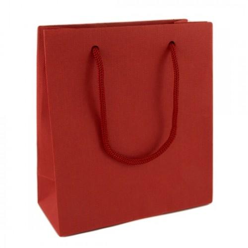 Пакет подарочный маленький красный (13х12 см)