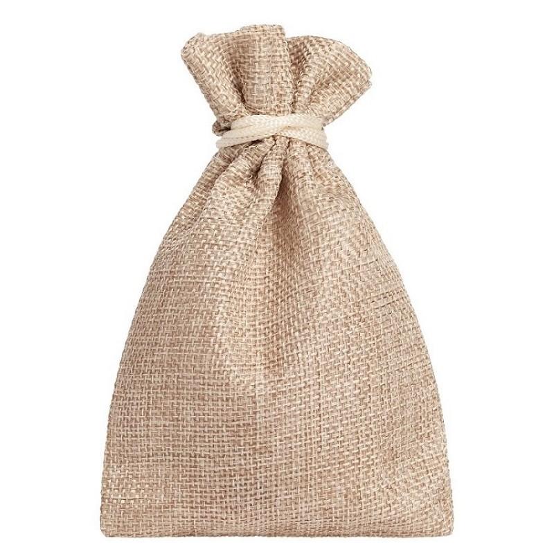Мешочек подарочный холщовый бежевый (15х10 см)