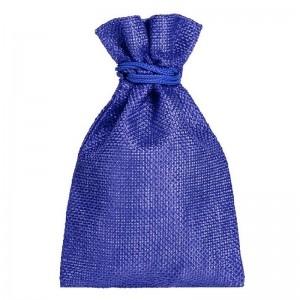 Мешочек подарочный маленький синего цвета