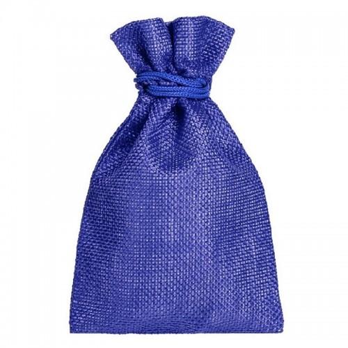 Мешочек подарочный холщовый синий (15х10 см)