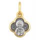 Образок из серебра с позолотой. Матрона Московская