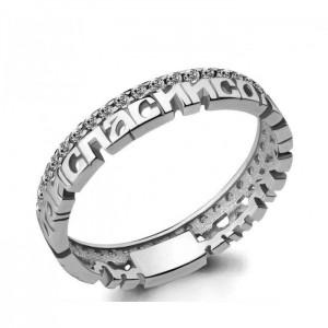 Серебряное кольцо с молитвой «Спаси и Сохрани»