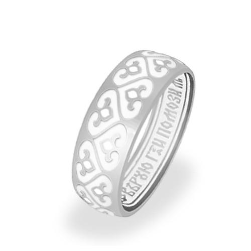 Серебряное кольцо с эмалью «Процветшие Сердца»
