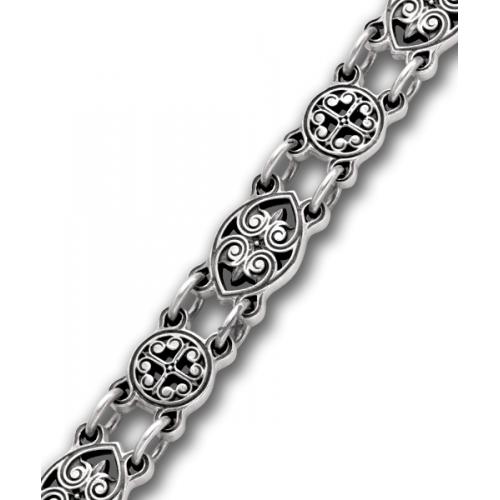 Серебряный браслет с христианским символом «Хризма»