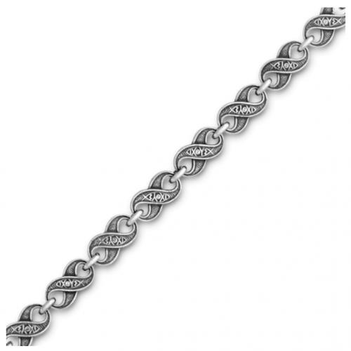 Серебряная православная цепь «Символ Бесконечности»
