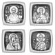 Серебряная бусина «Деисус» с иконами иконостаса