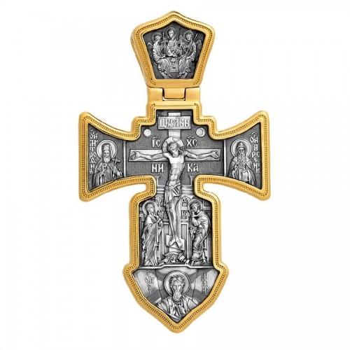 Большой крест с распятием (25 гр) «Ангел Хранитель» (арт 101.002)
