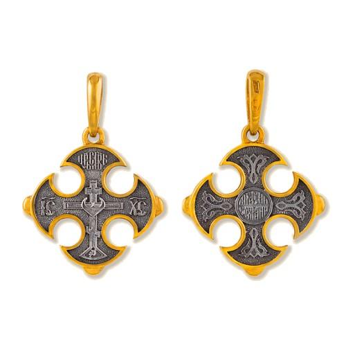 Нательный православный крест «Мальтийский» (арт 3523)