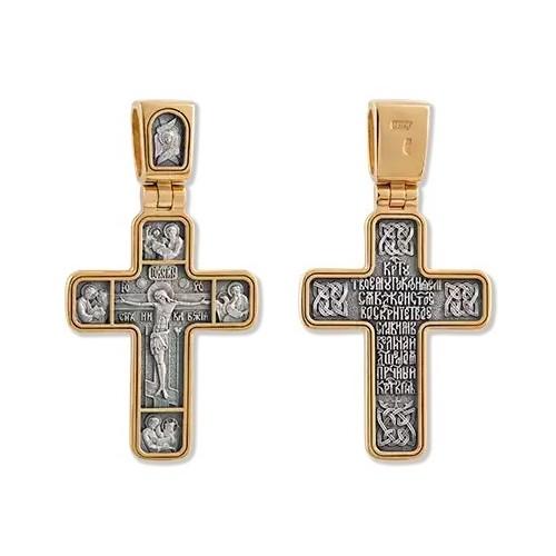 Позолоченный нательный крест «Четыре Евангелиста» (арт 22223)