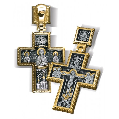 Нательный крест — Преподобный Сергий Радонежский