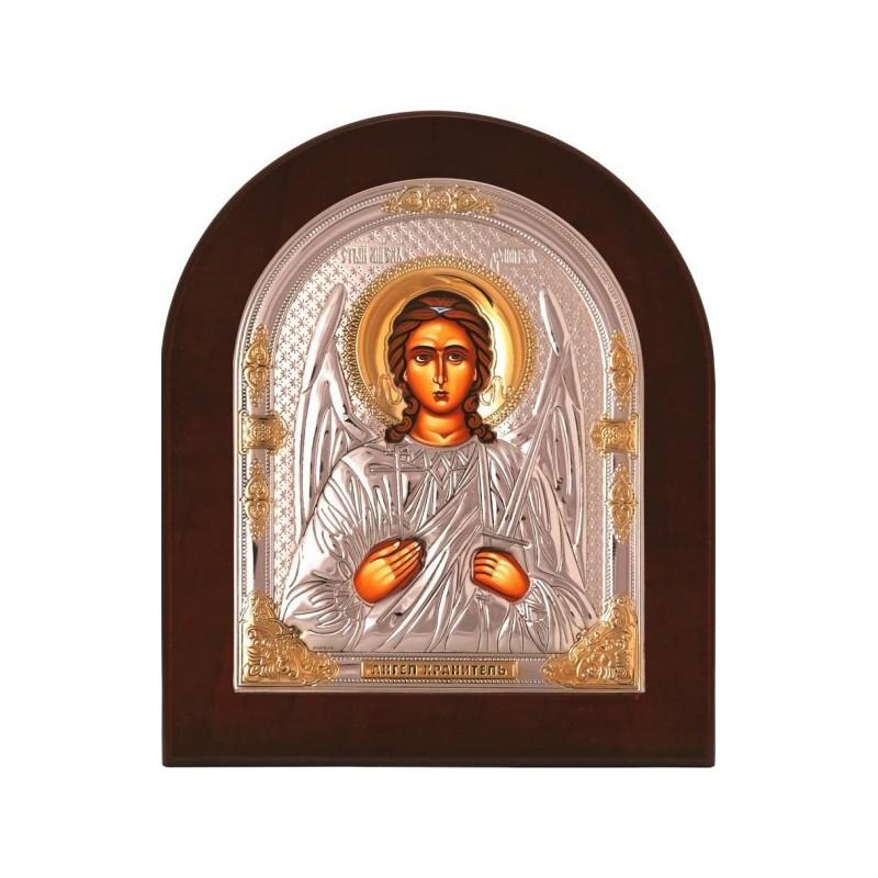 Икона «Ангел-Хранитель» в серебряном окладе (золочение лаком) 725 OVX