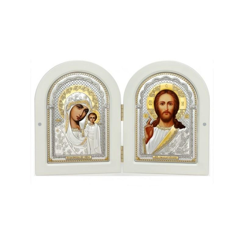 Господь Благословляющий. Казанская икона Божией Матери. Складень Арт. С(Б)-5