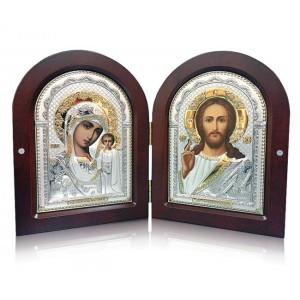 Господь Благословляющий. Казанская икона Божией Матери. Складень Арт. С-5