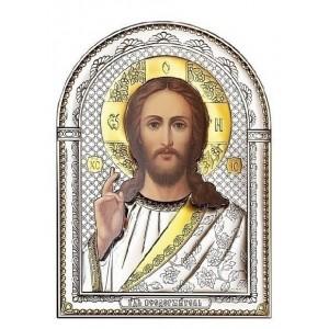 Господь Благословляющий. Икона в серебряном окладе (золочение) И-Д-ИХ