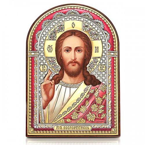 Господь Благословляющий. Икона в серебряном окладе (эмаль, золочение) И-ДЦ-ИХ