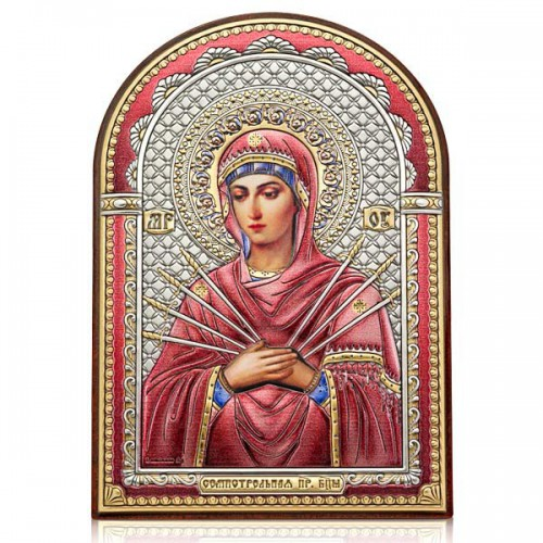 «Семистрельная» икона Божией Матери. Арт. И-ДЦ-СБМ