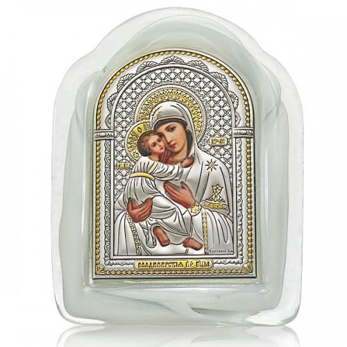 Владимирская икона Божией Матери. Муранское стекло