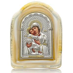 Икона в муранском стекле – (Italy) «Владимирская»