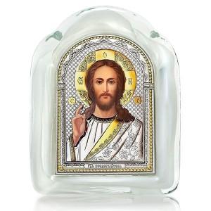 Господь Благословляющий (муранское стекло, серебро, золочение) И-М(Б)-ИХ