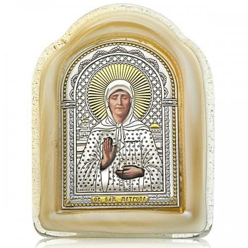 Святая блаженная Матрона. Икона в муранском стекле
