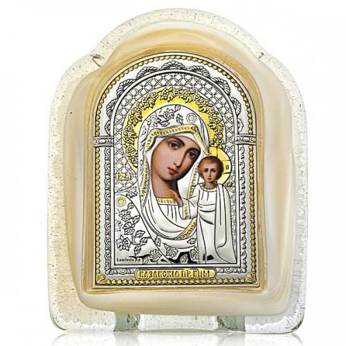 Казанская икона Божией Матери. Муранское стекло