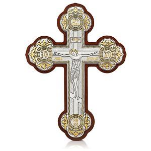 Настенный крест с Распятием Христовым. Арт. РМ