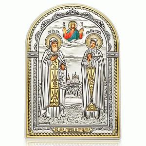 Святые Петр и Феврония Муромские. Икона Арт. И-Д(Б)-ПФ