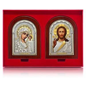 Господь Благословляющий. Казанская икона Божией Матери. Венчальная пара Арт. ВП-К