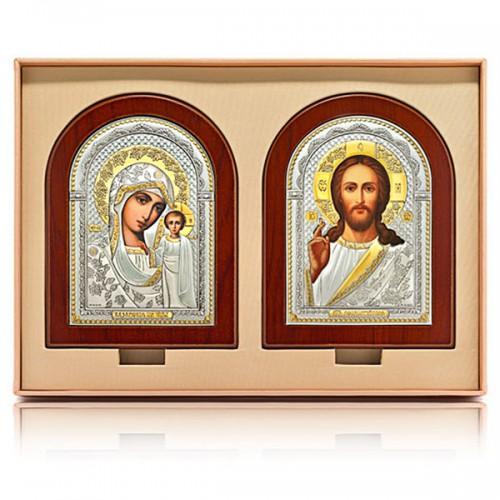 Господь Благословляющий. Казанская икона Божией Матери. Венчальная пара Арт. ВП-Ш