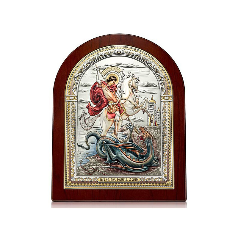 «Чудо Георгия Победоносца о змие». Икона Арт. И-ДРЦ-ЧГП