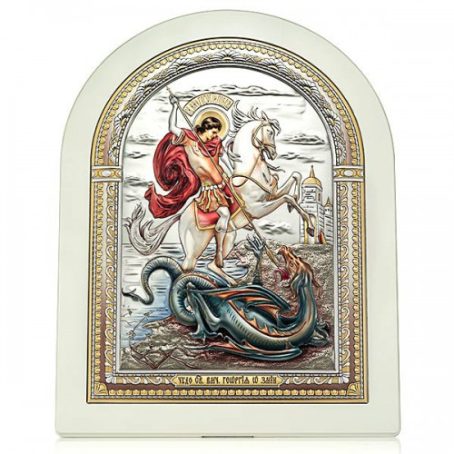 «Чудо Георгия Победоносца о змие».Икона Арт. И-Д(Б)РЦ-ЧГП