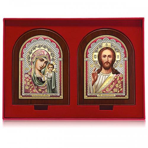 Господь Благословляющий. Казанская икона Божией Матери. Венчальная пара Арт. ВП-ЦК