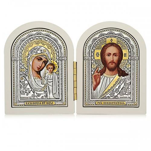 Господь Благословляющий. Казанская икона Божией Матери. Складень Арт. С(Б)-1