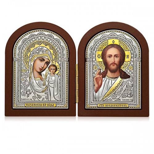 Господь Благословляющий. Казанская икона Божией Матери. Складень Арт. С-1