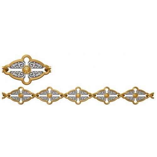 Женский серебряный браслет с монограммой «Хризма» 40.733