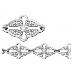 Женский серебряный браслет с монограммой «Хризма» 40.734