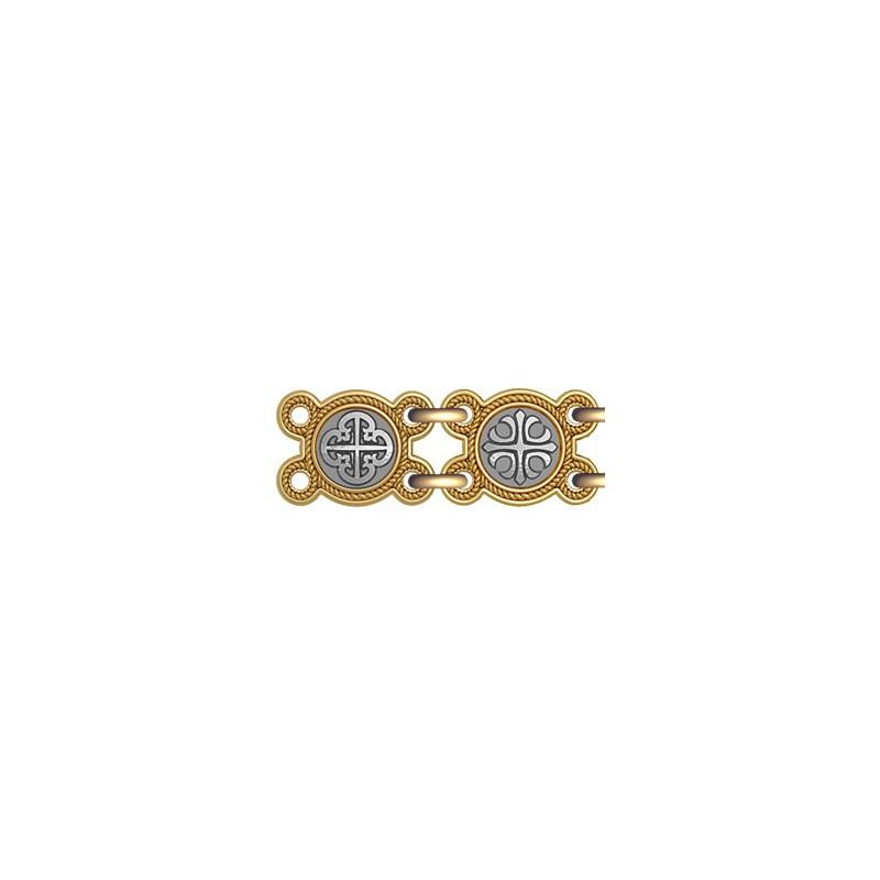 Православный браслет из серебра «Процветший крест» 40.773