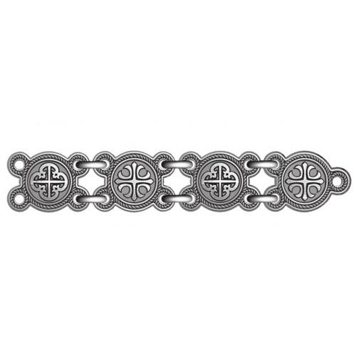 Браслет из черненого серебра «Процветший крест» 40.774