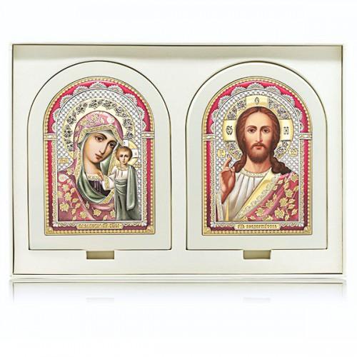 Господь Благословляющий. Казанская икона Божией Матери. Венчальная пара Арт. ВП-БЦ